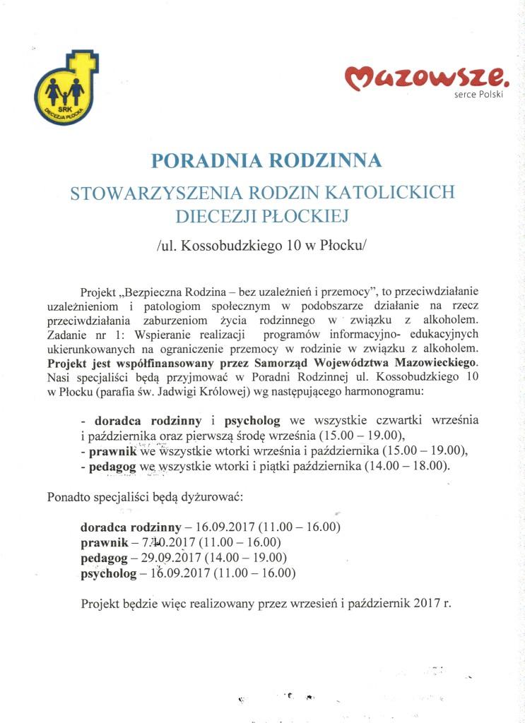 ogłoszenie poradnia ul.Kossu